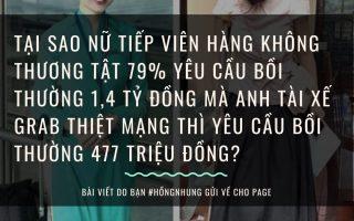 Tại sao nữ tiếp viên hàng không (TVHK) bị thương tật 79% yêu cầu bồi thường 1,4 tỷ đồng mà anh tài xế Grab thiệt mạng thì yêu cầu bồi thường 477tr đồng?